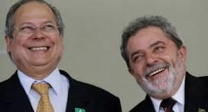 Lula e Dirceu: parceria feita e desfeita.